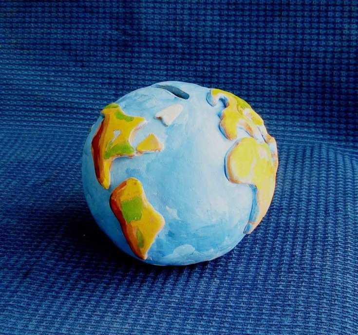 глобус из пластилина своими руками фото между бойком
