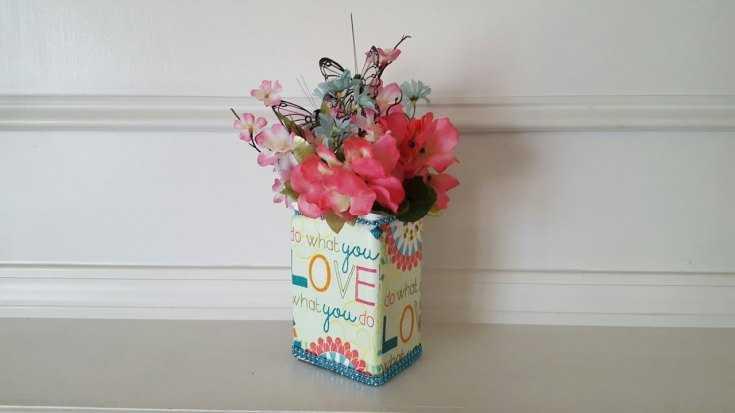 Ваза для цветов своими руками из картона
