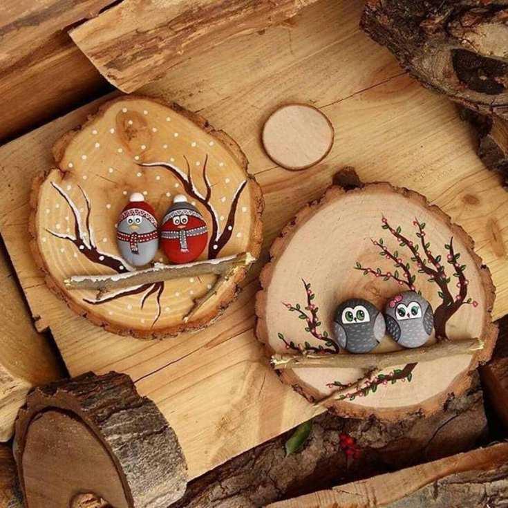 Декор для дачи из спилов дерева своими руками: идеи, фото