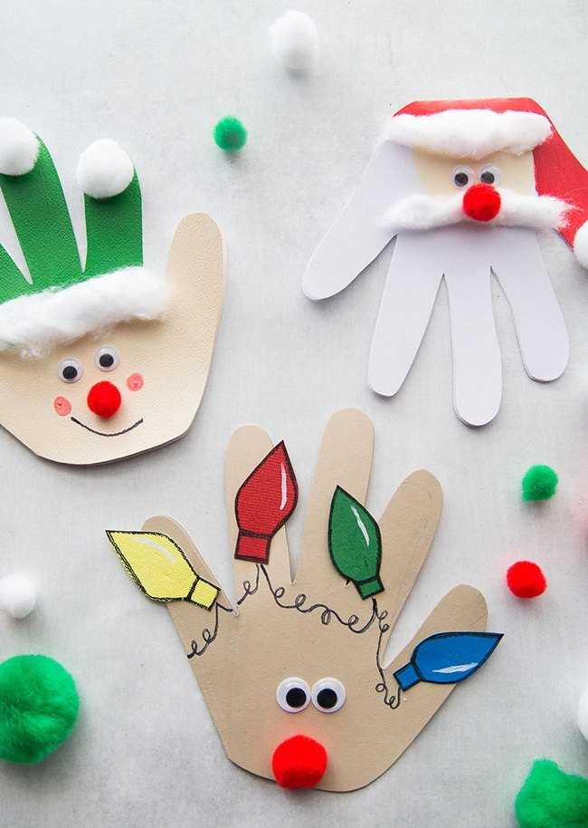 новогодние открытки ладошками стеллажи