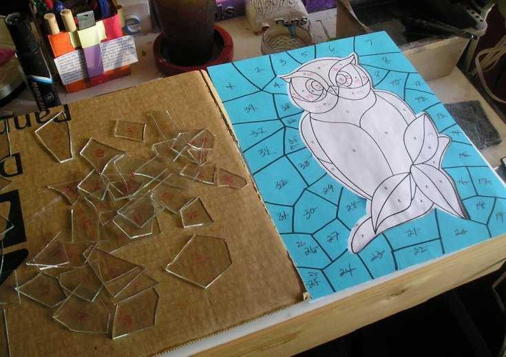 Рисунки жидким стеклом